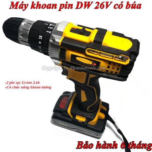 Máy khoan vặn vít dùng pin DW 26V có búa-3 chức năng-bảo hành 6 tháng - 4976726 , 18030493 , 15_18030493 , 1500000 , May-khoan-van-vit-dung-pin-DW-26V-co-bua-3-chuc-nang-bao-hanh-6-thang-15_18030493 , sendo.vn , Máy khoan vặn vít dùng pin DW 26V có búa-3 chức năng-bảo hành 6 tháng