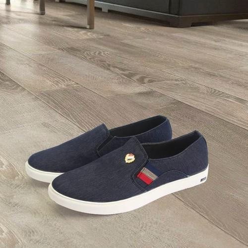 giày lười nam vải xanh đen G279 | giày lười | giày lười vải