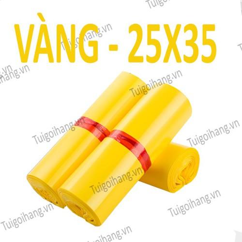 20 Túi Niêm Phong - Túi Gói Hàng Chuyển Phát Nhanh Vàng 25x35cm
