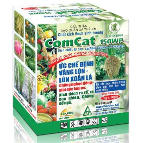 ComCat 150WP Lúa Vàng 20gram, kích thích sinh trưởng, Phục hồi bộ rễ, sinh trưởng cây trồng, gia tăng khả năng thụ phấn và hạn chế rụng trái non. - 8873841 , 18033535 , 15_18033535 , 32000 , ComCat-150WP-Lua-Vang-20gram-kich-thich-sinh-truong-Phuc-hoi-bo-re-sinh-truong-cay-trong-gia-tang-kha-nang-thu-phan-va-han-che-rung-trai-non.-15_18033535 , sendo.vn , ComCat 150WP Lúa Vàng 20gram, kích thích
