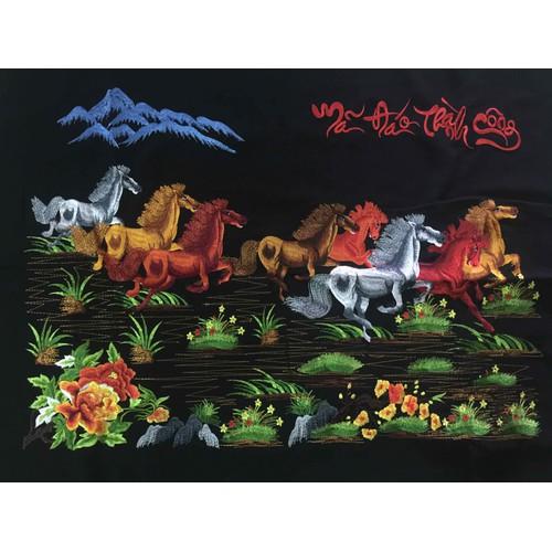 tranh thêu vi tính ngựa chưa khung