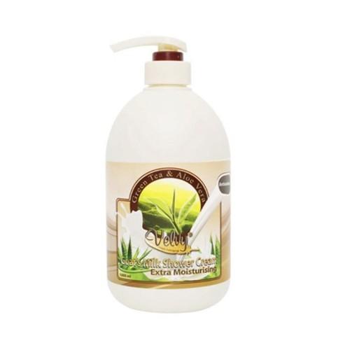 Sữa Tắm Velvy Green Tea & Aloe Vera Hương Trà Xanh & Nha Đam - Malaysia - 1000ml