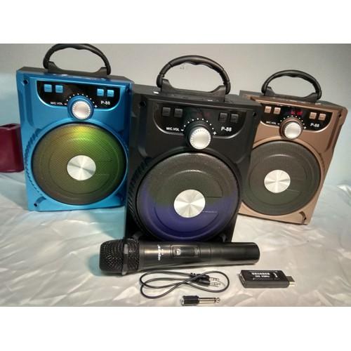 Loa Karaoke Bluetooth với thiết kế nhỏ gọn âm hay + 1 Mic không dây hút to