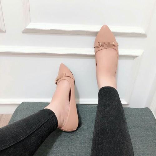giày bít xẹp mũi nhọn - 4977020 , 18033586 , 15_18033586 , 255000 , giay-bit-xep-mui-nhon-15_18033586 , sendo.vn , giày bít xẹp mũi nhọn