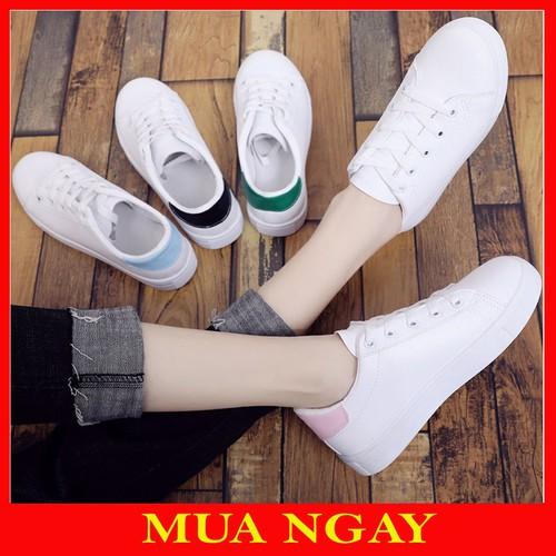 Giày Thể Thao Nữ Hàn Quốc Gót Màu