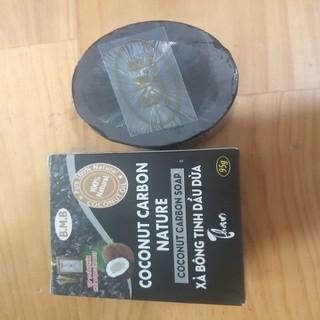 xà phòng dầu dừa than hoạt tính handmade - xà bông dầu dừa than hoạt tính thumbnail