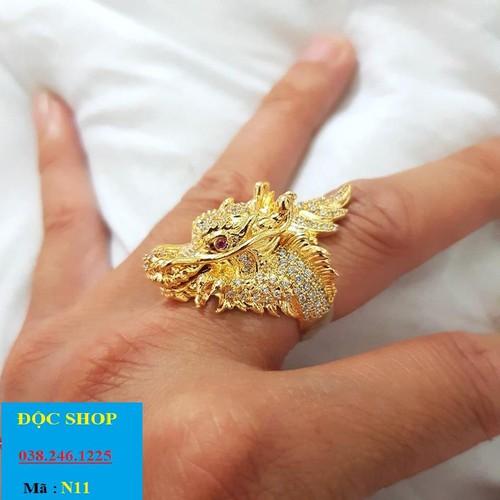 Nhẫn đầu rồng mạ 24K - 8874151 , 18034095 , 15_18034095 , 398000 , Nhan-dau-rong-ma-24K-15_18034095 , sendo.vn , Nhẫn đầu rồng mạ 24K