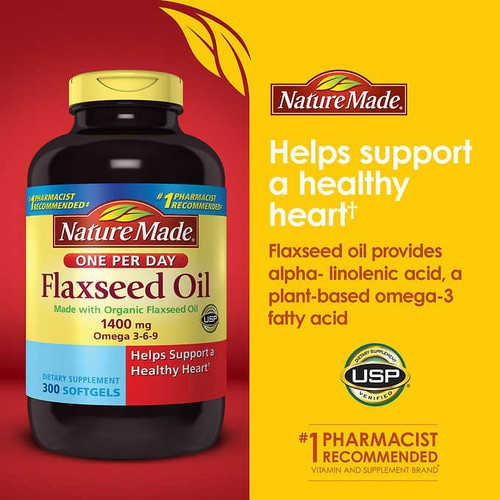 Dầu hạt lanh Nature Made Flaxseed Oil 1400mg Omega 3-6-9 300 viên