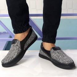 giày lười vải nam g217 đế cao su siêu bền