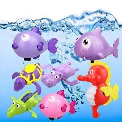 Thú thả bồn tắm cho bé _ Thú bơi trong nước - THU1