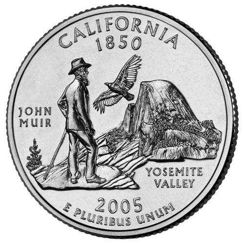 Đồng xu đô la Mỹ 2005 California - tiền xu sưu tầm - xu may mắn