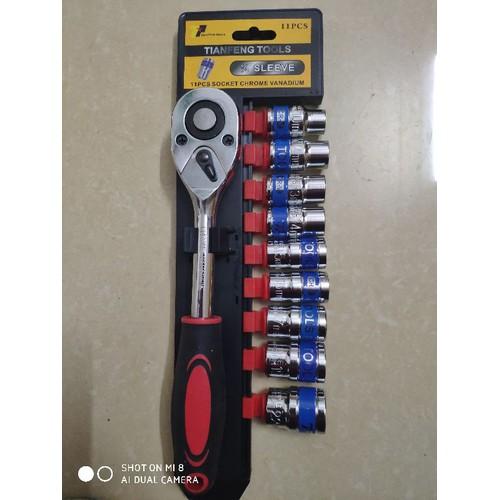 bộ khẩu siết ốc 10 chi tiết tianfeng tool