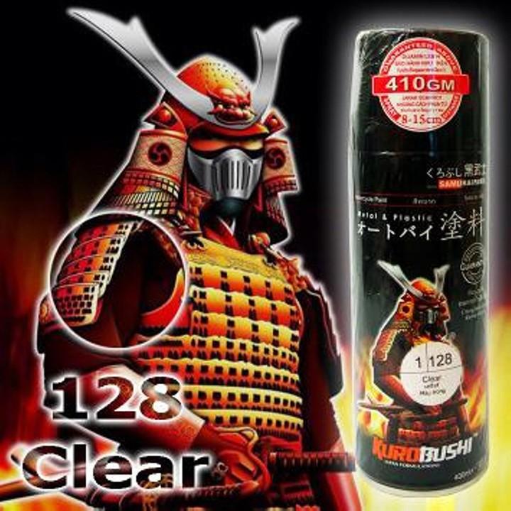 128 _ Chai Sơn Xịt Sơn Xe Máy Samurai 128 sơn màu trong _ CLEAR _ shop uy tín, giao nha 7