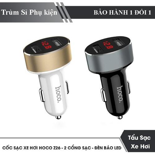 Cóc Sạc Xe Hơi Hoco Z26: 2 Cổng USB Và Có Đèn Báo LED - 8895040 , 18065453 , 15_18065453 , 93000 , Coc-Sac-Xe-Hoi-Hoco-Z26-2-Cong-USB-Va-Co-Den-Bao-LED-15_18065453 , sendo.vn , Cóc Sạc Xe Hơi Hoco Z26: 2 Cổng USB Và Có Đèn Báo LED
