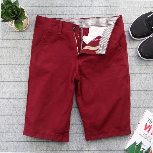 Quần short kaki nam đỏ vải dày đẹp Q131 MĐ | Quần short nam| Quần short kaki