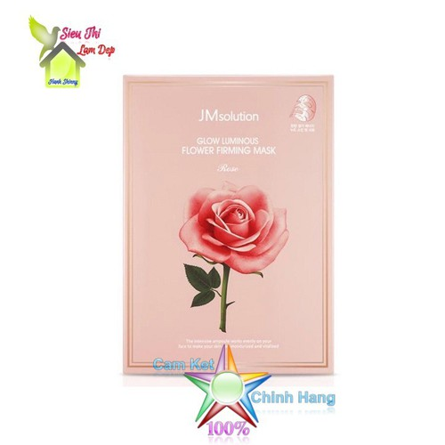 Mặt nạ giấy hoa hồng dưỡng da, làm săn chắc da JM Solution Glow Luminous Flower Firming Mask