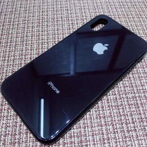 ốp lưng iphone X ốp lưng kính viền đồng màu