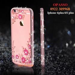 Ốp lưng đính đá Iphone 6plus, 6S plus ốp đính đá hình hoa trong suốt - ĐĐ020