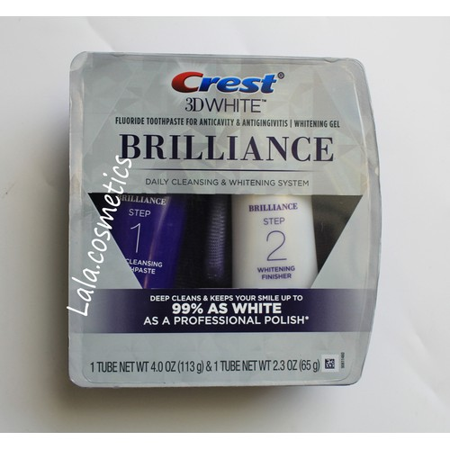 Bộ kem tẩy trắng răng Crest 3D White Brilliance Daily Cleansing & Whitening System - 8888280 , 18055552 , 15_18055552 , 550000 , Bo-kem-tay-trang-rang-Crest-3D-White-Brilliance-Daily-Cleansing-Whitening-System-15_18055552 , sendo.vn , Bộ kem tẩy trắng răng Crest 3D White Brilliance Daily Cleansing & Whitening System