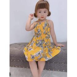 PPa - Đầm lanh bé gái mặc hè cực mát