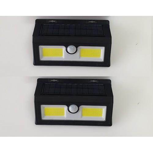 Bộ 2 đèn led năng lượng mặt trời có cảm biến chuyển động 14W
