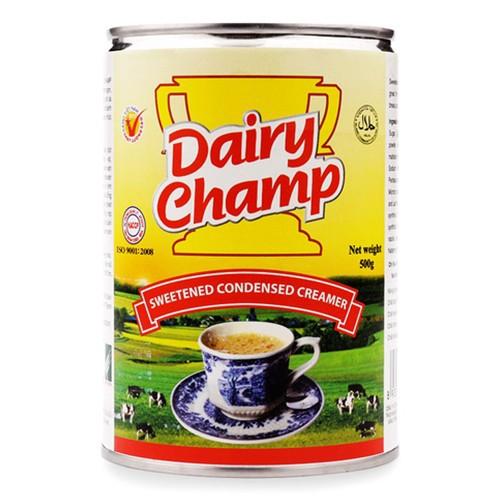 Creamer Sữa đặc Dairy Champ lon 500g có đường