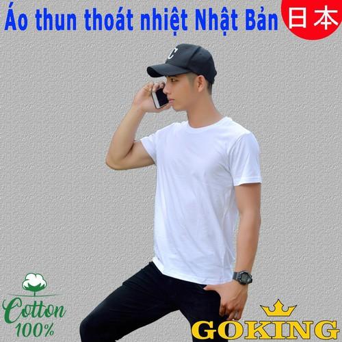 Áo thun thoát nhiệt Nhật Bản GOKING, áo phông nam nữ 100 cotton siêu mát, thấm hút mồ hôi, khử mùi, kháng khuẩn, màu trắng và 8 màu khác - 8896609 , 18067707 , 15_18067707 , 149000 , Ao-thun-thoat-nhiet-Nhat-Ban-GOKING-ao-phong-nam-nu-100-cotton-sieu-mat-tham-hut-mo-hoi-khu-mui-khang-khuan-mau-trang-va-8-mau-khac-15_18067707 , sendo.vn , Áo thun thoát nhiệt Nhật Bản GOKING, áo phông nam