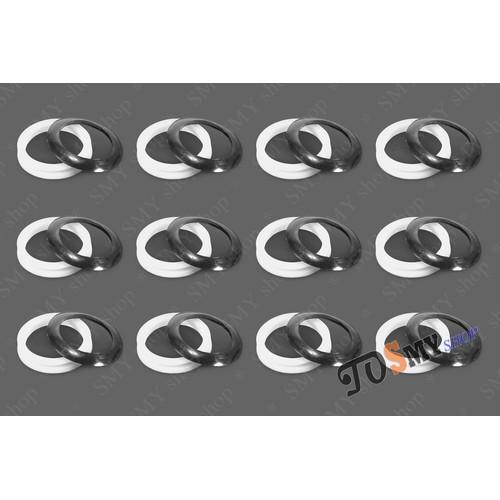 12 bộ Gioăng silicon - ron cao su chắn bụi ống thủy tinh phi 58