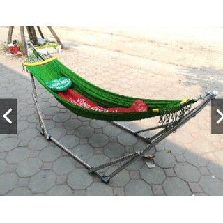 Võng Xếp Khung Inox Cỡ Đại Kèm Lưới Võng Gối, Túi đựng - xvi02 thumbnail