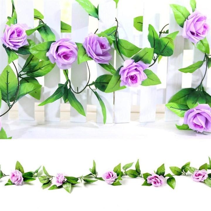 Combo 5 dây hoa hồng leo giả trang trí tiệc cưới, nhà hàng