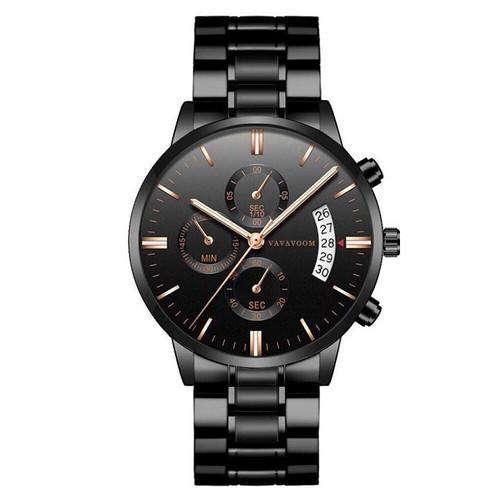 [ rẻ vô địch ] [ được kiểm hàng ] đồng hồ nam bosck dây thép đúc đặc có lịch bo1217