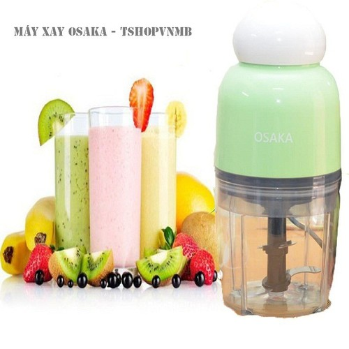 [Siêu Hot] Máy xay sinh tố, hoa quả, thịt, xay đá OSAKA DH-807 công nghệ Nhật Bản Nắp Trắng - Màu Xanh lá