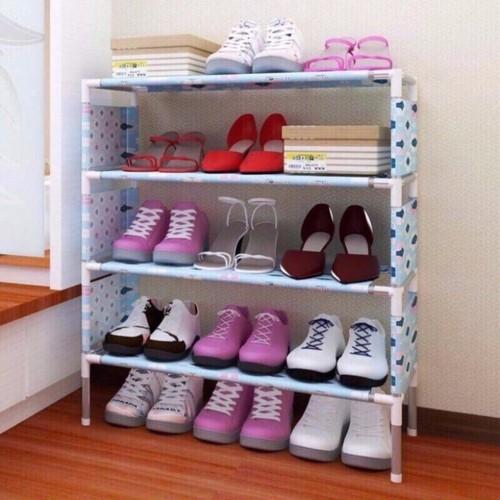 Kệ để giày dép 4 tầng inox