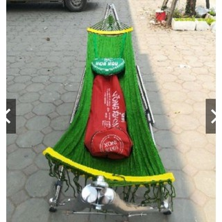 Võng Xếp Khung Inox Cỡ Đại Kèm Lưới Võng Hòa Hậu - vxi01 thumbnail