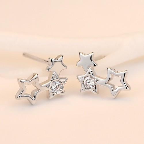 Bông tai khuyên tai genist star cổ tích tình yêu bạc 925 nạm đá cao cấp az bt60