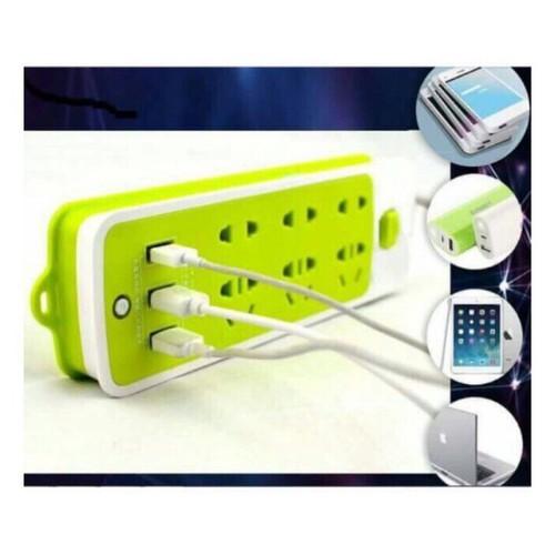 Ổ CẮM ĐIỆN 6 PHÍCH CẮM  3 CỔNG USB