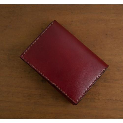 Bóp nữ mini - màu đỏ đô - da bò thật - sản phẩm handmade DT256
