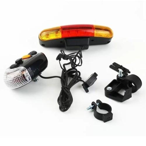 Bộ kèn và đèn tín hiệu gắn xe đạp  474 TI