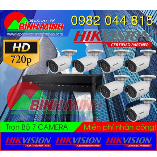 Trọn Bộ 7 Mắt Camera Chuẩn HD HikVision