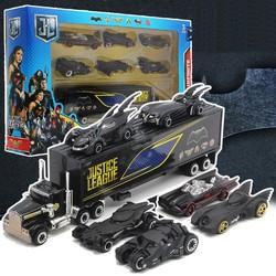 Bộ đồ chơi trẻ em xe mô hình Hợp Kim gồm 6 xe con + 1 xe tải lớn Người Dơi