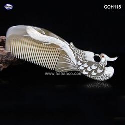 Lược sừng Phượng trắng - Size: L - 18cm- Quà tặng rất đẹp - Horn Comb of HAHANCO - Chăm sóc tóc