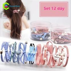 Set 12 dây cột tóc Hàn Quốc PKA005