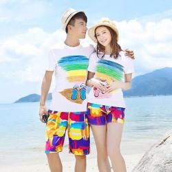 Quần shorts nam nữ - Quần đùi đi biển - Quần cặp đi biển