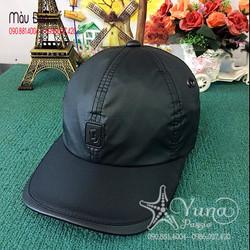 [Mua 4 Nón Tặng 1 Khẩu Trang Su Dày Kháng Khuẩn] Nón Lưỡi Trai Vải Dù Phối Da Thêu Logo - Yuna Boutique