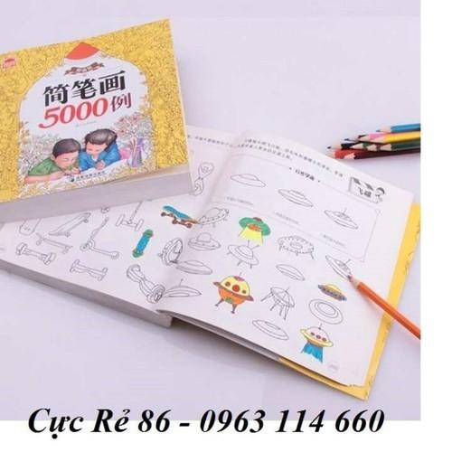 Bộ sách tô màu 5000 tranh kèm hộp bút màu cho bé siêu hot