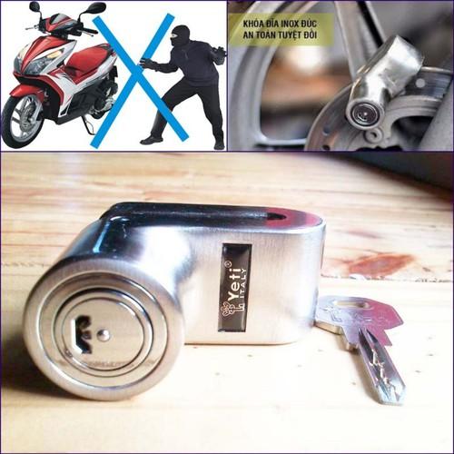 Khóa đĩa xe máy chống trộm Yeti YT3027 Bạc đảm bảo sự an toàn tuyệt đối cho phương tiện của bạn[LK] - 8883143 , 18047733 , 15_18047733 , 420000 , Khoa-dia-xe-may-chong-trom-Yeti-YT3027-Bac-dam-bao-su-an-toan-tuyet-doi-cho-phuong-tien-cua-banLK-15_18047733 , sendo.vn , Khóa đĩa xe máy chống trộm Yeti YT3027 Bạc đảm bảo sự an toàn tuyệt đối cho phương