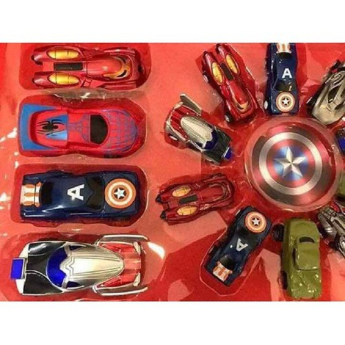 Set ô tô siêu anh hùng 14 chiếc siêu hót