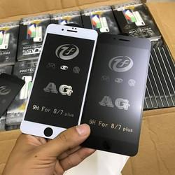 Cường lực chống vân tay, Miếng dán cường lực chống vân tay tuyệt đối full màn cao cấp AG - Hàng chuẩn đẹp cho dòng máy Iphone 6 6s Plus 7 8 Plus X XR XS Max iPhone 11 Pro Max