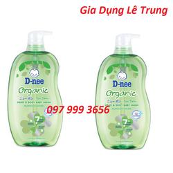 Combo 2 chai Sữa tắm gội toàn thân cho bé Dnee Organic 380ml xuất xứ Thái Lan