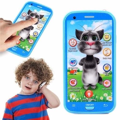 Điện thoại đồ chơi Mèo Tôm cảm ứng 12 chức năng cho bé
